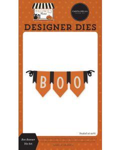 Boo Banner Dies - Halloween Market - Carta Bella
