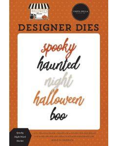 Spooky Night Word Dies - Halloween Market - Carta Bella