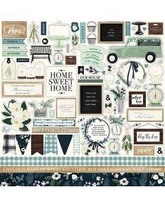 Home Again Element Stickers - Carta Bella