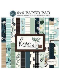 """Home Again 6"""" x 6"""" Paper Pad - Carta Bella"""