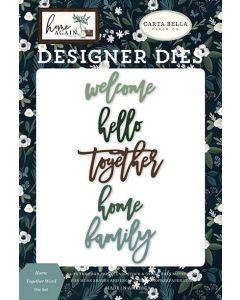 Home Together Word Die Set - Home Again - Carta Bella