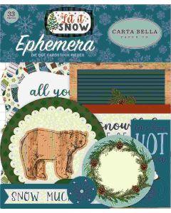 Carta Bella Ephemera - Let It Snow