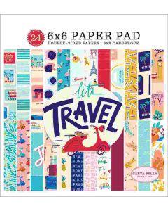 """Let's Travel 6"""" x 6"""" Paper Pad - Carta Bella"""