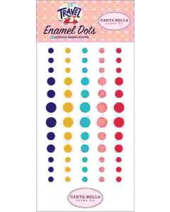 Let's Travel Enamel Dots - Carta Bella