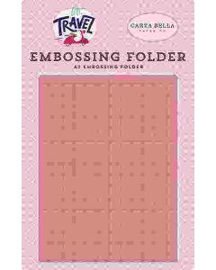 Grid Embossing Folder - Let's Travel - Carta Bella