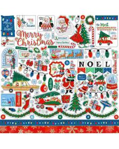 Merry Christmas Element Stickers - Carta Bella