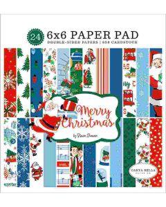 "Merry Christmas 6"" x 6"" Paper Pad - Carta Bella"