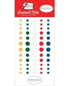 Merry Christmas Enamel Dots - Carta Bella
