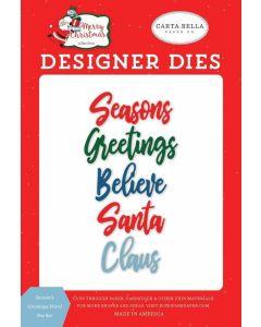 Season's Greetings Word Die Set - Merry Christmas - Carta Bella