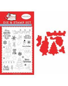 Oh What Fun Die & Stamp Set - Merry Christmas - Carta Bella