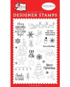Oh What Fun Stamp Set - Merry Christmas - Carta Bella