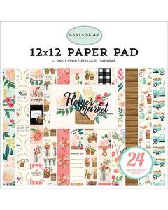 "Flower Market 12"" X 12"" Paper Pad"