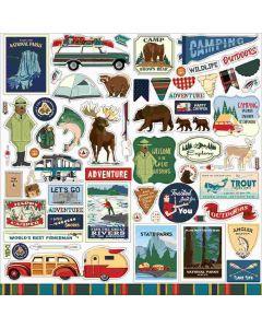 Outdoor Adventures Element Stickers - Carta Bella*