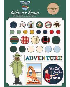 Outdoor Adventures Adhesive Brads - Carta Bella*