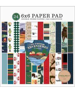 "Outdoor Adventures 6"" x 6"" Paper Pad - Carta Bella*"