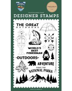 The Great Outdoors Stamps - Outdoor Adventures - Carta Bella*