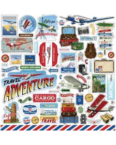 Our Travel Adventure Stickers - Carta Bella*