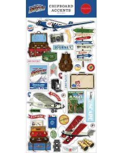 Our Travel Adventure Chipboard Accents - Carta Bella*