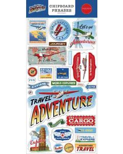 Our Travel Adventure Chipboard Phrases - Carta Bella*