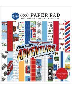 "Our Travel Adventure 6"" x 6"" Paper Pad - Carta Bella*"