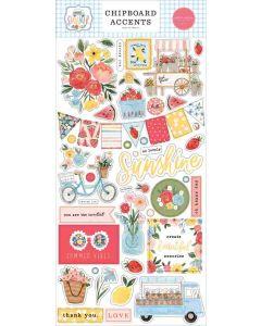 Summer Chipboard Accents - Carta Bella*