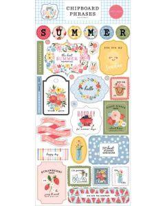 Summer Chipboard Phrases - Carta Bella*