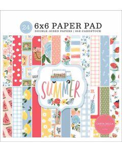 """Summer 6"""" x 6"""" Paper Pad - Carta Bella*"""