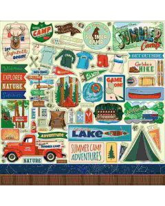 Summer Camp Element Stickers - Carta Bella*