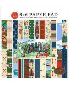 """Summer Camp 6"""" x 6"""" Paper Pad - Carta Bella*"""