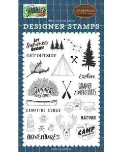 Let Summer Begin Stamp Set - Summer Camp - Carta Bella*