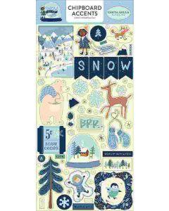 "Snow Much Fun 6"" x 13"" Chipboard Accent Stickers - Carta Bella"