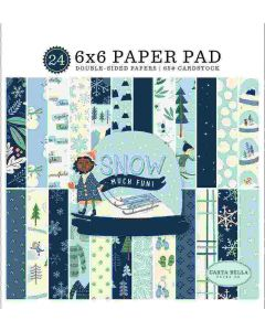 "Snow Much Fun 6"" x 6"" Paper Pad - Carta Bella"