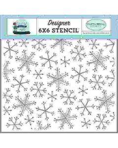 Snowflake Fun Stencil - Snow Much Fun - Carta Bella