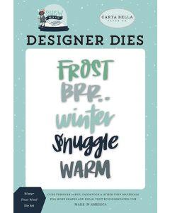 Winter Frost Word Die Set - Snow Much Fun - Carta Bella
