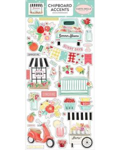 Summer Market Chipboard Accents - Carta Bella*