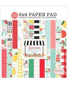 """Summer Market 6"""" x 6"""" Paper Pad - Carta Bella*"""