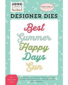Best Summer Word Die Set - Summer Market - Carta Bella*