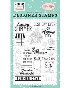 Happy Summer Stamp Set - Summer Market - Carta Bella*
