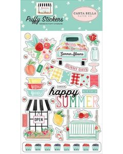 Summer Market Puffy Stickers - Carta Bella*
