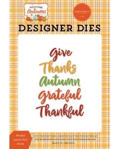 Thankful Autumn Word Dies - Welcome Autumn - Carta Bella