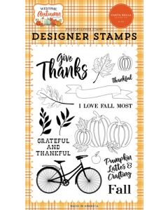 I Love Fall Most Stamps - Welcome Autumn - Carta Bella