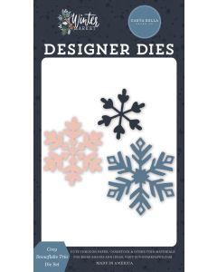 Cozy Snowflake Trio Dies - Winter Market - Carta Bella