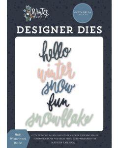 Hello Winter Word Dies - Winter Market - Carta Bella