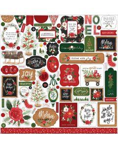 Happy Christmas Element Stickers - Carta Bella