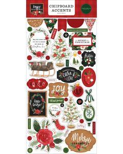 Happy Christmas Chipboard Accents - Carta Bella
