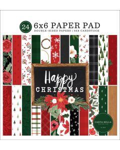 "Happy Christmas 6"" x 6"" Paper Pad - Carta Bella"