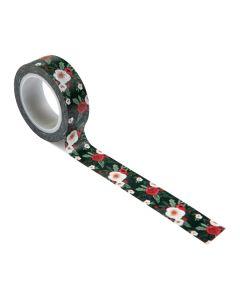 Cozy Floral Washi Tape - Happy Christmas - Carta Bella