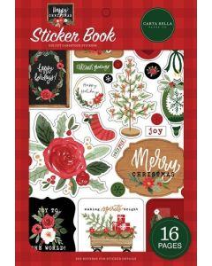 Happy Christmas Sticker Book - Carta Bella