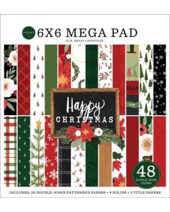 "Happy Christmas Cardmakers 6"" x 6"" Mega Pad - Carta Bella"
