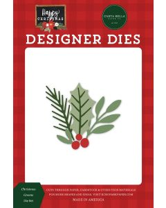 Christmas Greens Dies - Happy Christmas - Carta Bella
